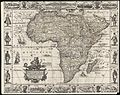 A new, plaine, & exact mapp of Africa described by N.I. Visscher and done into English, enlarged and corrected, according to I. Blaeu, with the habits of the countries and manner of the cheife citties, the like never before (9138602516).jpg