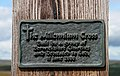 A plaque on Dirrington Little Law Millennium Cross - geograph.org.uk - 1414832.jpg
