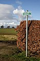 A public footpath sign at Humbie - geograph.org.uk - 1187063.jpg