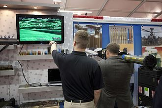 Mk 153 Shoulder-Launched Multipurpose Assault Weapon (SMAW) - Nammo Tally displaying the Serpent at Modern Day Marine 2010