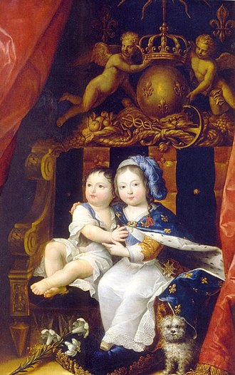 Philippe I, Duke of Orléans - Philippe and his brother, the future Louis XIV of France by an unknown painter