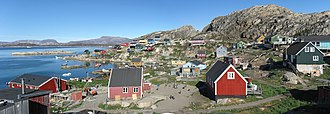 Upernavik Archipelago - Aappilattoq, one of several island settlements in the archipelago