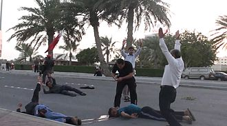 Human rights in Bahrain - Bahraini protesters shot by military, 2011