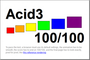 Firefox - The result of the Acid3 test on Firefox 17