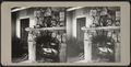 Active stone fireplace with glass lantern and various objects on mantle, from Robert N. Dennis collection of stereoscopic views.png