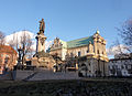 Adam Mickiewicz monument and the church of Saint Joseph Care (8020371706).jpg