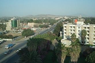 Adama - The Addis Ababa-Dire Dawa Road in Adama, Ethiopia.