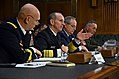 Adm. Jonathan Greenert, center left, testifies before the Senate Armed Services Committee. (16395217872).jpg