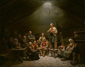 Hans Nielsen Hauge - Haugianerne by Adolph Tidemand (1848-1852)