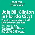 Advertisement of Bill Clinton's November 1 Florida City rally.jpg