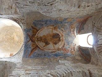 Cattolica di Stilo - Image: Affresco sul tetto Cattolica di Stilo