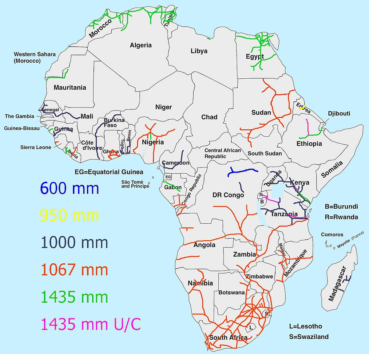Rwanda On Map Of Africa East African Railway Master Plan   Wikipedia