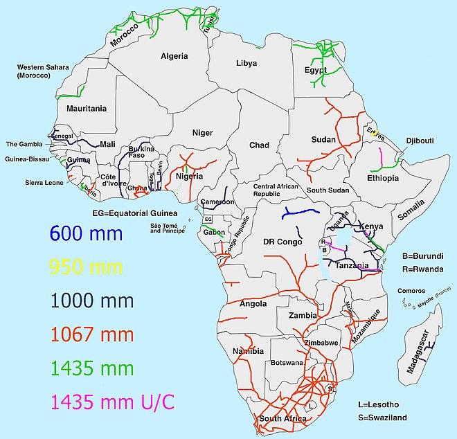 Africa Map Showing Rwanda.East African Railway Master Plan Wikiwand