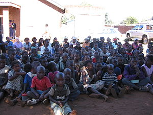 AIDS Orphans in the Biwi/Mchesi area of Lilong...