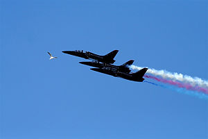English: Air show in San Franciso with three P...