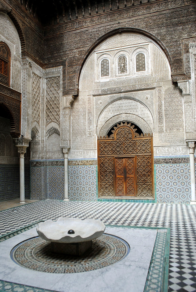 Madrasa Al-Attarine construite à Fès par Uthman II Abu Said en 1323-1325. Photo de just_a_cheeseburger