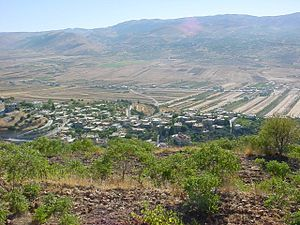 Temples of the Beqaa Valley - View across the Beqaa Valley, Lebanon