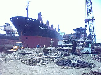 Alang - Ongoing Ship breaking at Alang