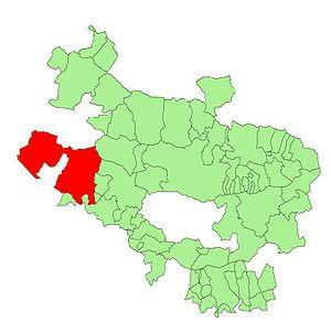 Valdegovía/Gaubea - Location of Valdegovía/Gaubea within Álava Province