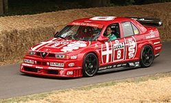 Alfa Romeo 155 V6 Ti, the 1993 DTM season winner with Nicola Larini, at the 2010 Goodwood Festival of Speed.