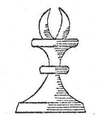 Alfil - An illustration of the alfil from Chessmen (1937).