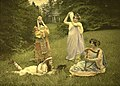 Alfonse Van Besten, Groupe antique composition c. 1912, autochrome 9 x 12.jpg