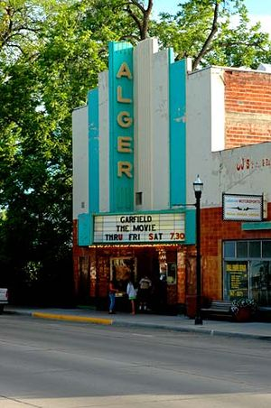 Garfield: The Movie - Garfield: The Movie on the marquee of a theater in Lakeview, Oregon.