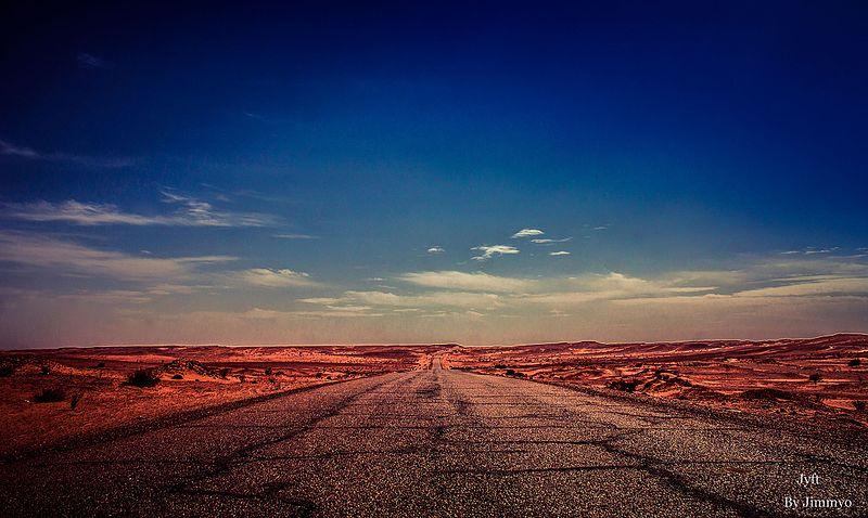File:Algerian desert road.jpg