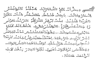 Aljamiado writing that uses the Arabic script for transcribing European languages
