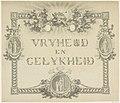 Allegorie op de Vrijheid en Gelijkheid, 1795 Vryheid en Gelykheid (titel op object), RP-T-00-3802.jpg