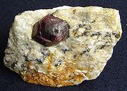 Almandine in gneissic rock