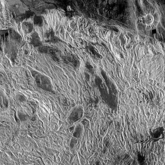Mapping of Venus - Lineated terrain on Alpha Regio