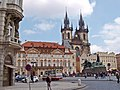 Altstädter Ring (Staroměstské náměstí) mit Jan-Hus-Denkmal und Teynkirche, Praha, Prague, Prag - panoramio.jpg
