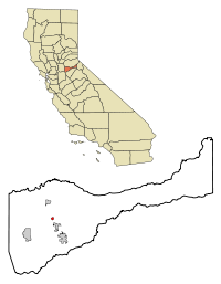 Amador County California Incorporated and Unincorporated areas Amador City Highlighted.svg