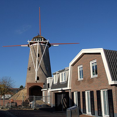 Amerongen - molen Maallust in restauratie - 8 nov 2009.jpg
