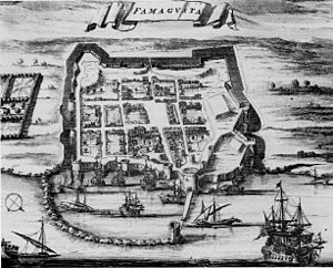 "Famagusta - The port of Famagusta, engraving from the book of Olfert Dapper ""Description exact des iles des l'Archipel"", Amsterdam, 1703."