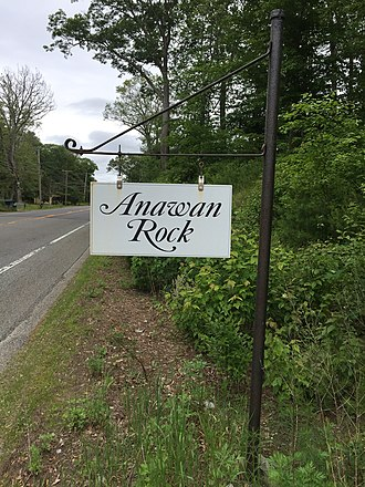 U.S. Route 44 - Anawan Rock sign on Route 44