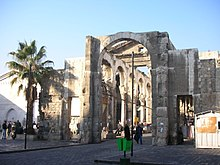 Ruins of ancient city of Damascus