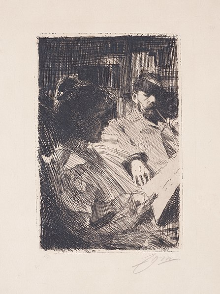 File:Anders Zorn - Reading (Mr. och Mrs. Charles Deering) (etching) 1893.jpg