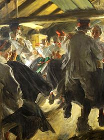 ZORN Anders Dance in the Gopsmor cottage 1914