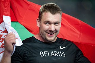 Andrei Mikhnevich Belarusian shot putter