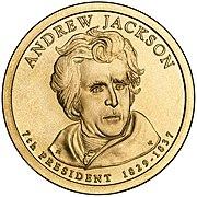 Andrew Jackson Presidential $1 Coin obverse