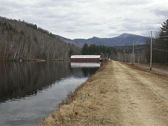 Androscoggin River - Power canal along the Androscoggin River in Gorham, New Hampshire