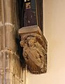 Angel corbel 1, St Oswald's Church, Bidston.jpg