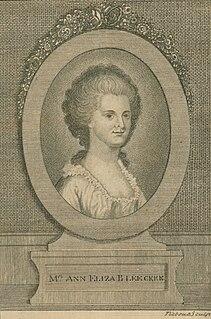 Ann Eliza Bleecker American poet, correspondent (1752–1783)
