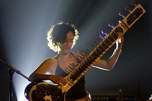 Definition of music - Anoushka Shankar playing a sitar.