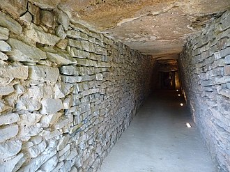 Tholos de El Romeral - Tholos de El Romeral; walls of small rubble, megalithic capstones