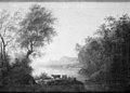 Anthon Christoffer Rüde - Udsigt over en sø i et bjergrigt landskab - KMS919 - Statens Museum for Kunst.jpg