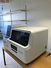 Machine used to analyze blood samples