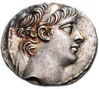 Cleopatra Selene of Syria - Image: Antioco X Eusebes Filopator, tetradracma, face